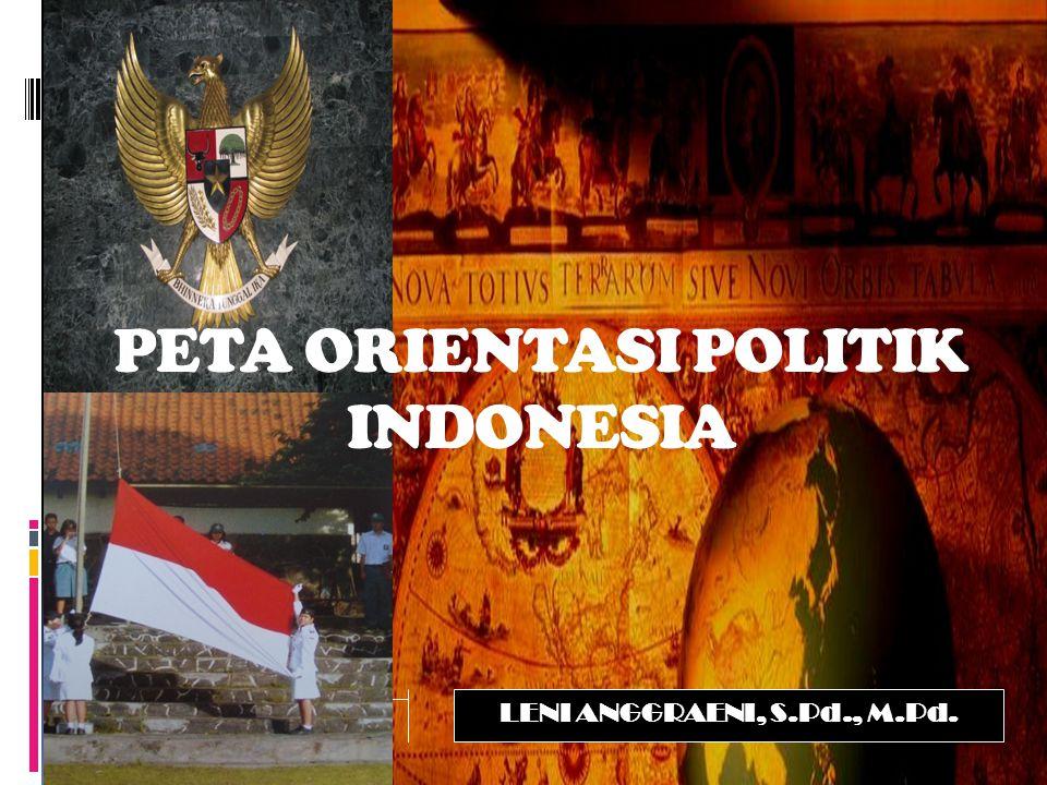 PETA ORIENTASI POLITIK INDONESIA
