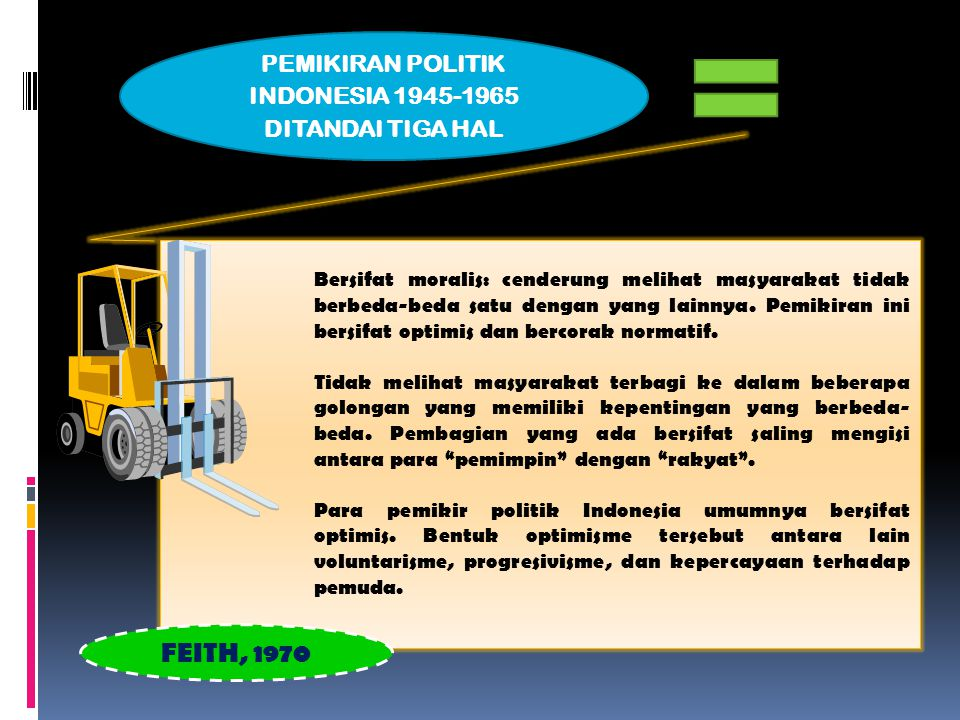 PEMIKIRAN POLITIK INDONESIA 1945-1965 DITANDAI TIGA HAL