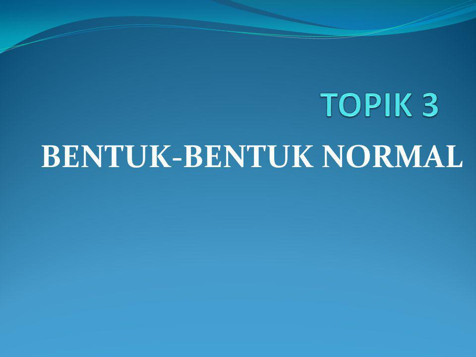 TOPIK 3 BENTUK-BENTUK NORMAL