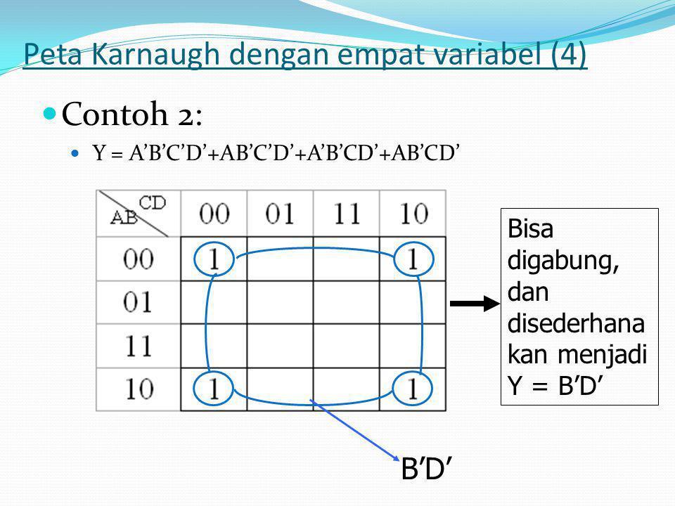 Peta Karnaugh dengan empat variabel (4)