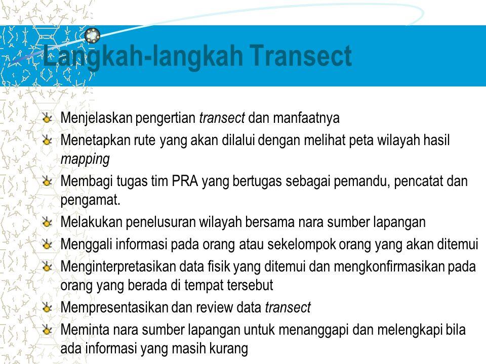 Langkah-langkah Transect