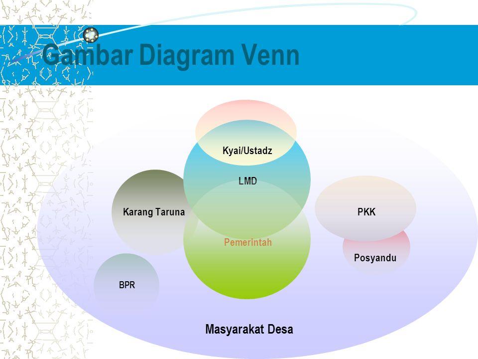 Gambar Diagram Venn LMD Karang Taruna PKK Pemerintah Posyandu