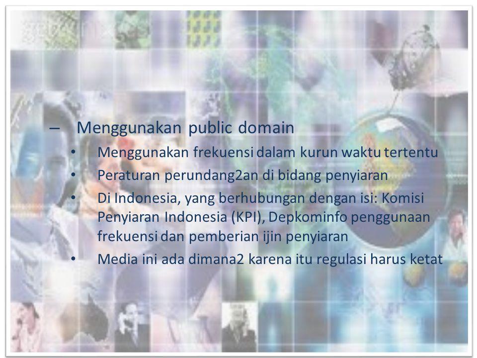 Menggunakan public domain