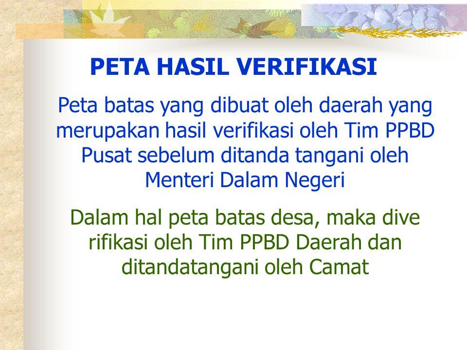 PETA HASIL VERIFIKASI