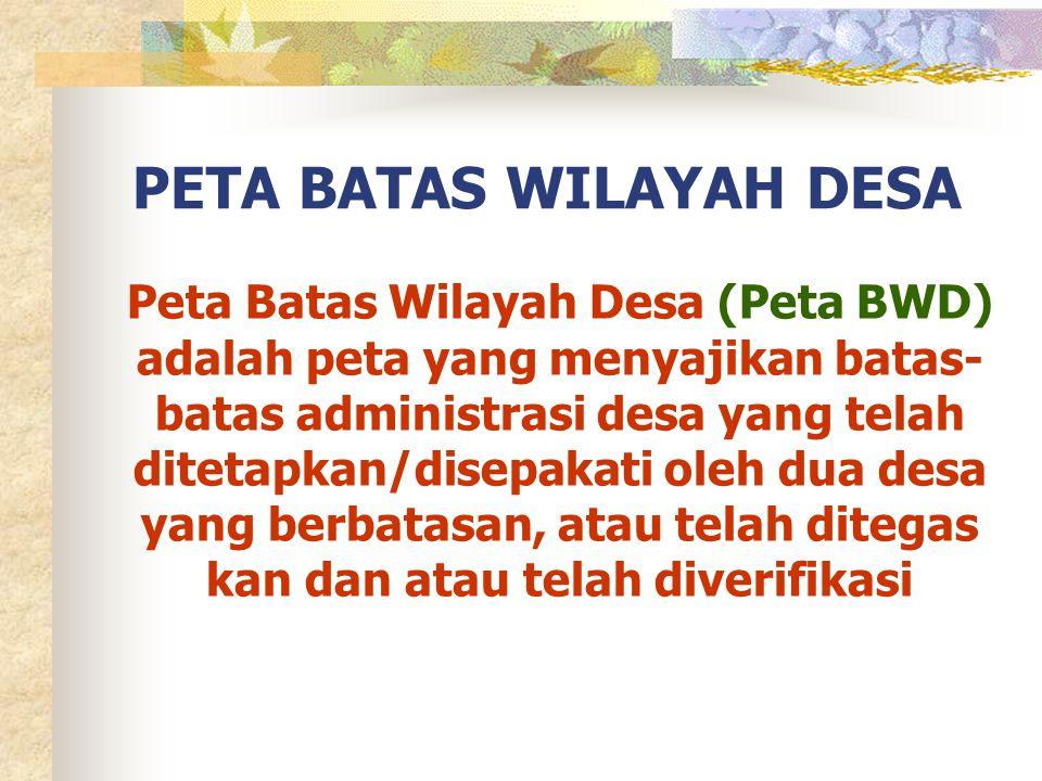 PETA BATAS WILAYAH DESA