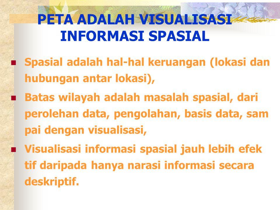 PETA ADALAH VISUALISASI INFORMASI SPASIAL