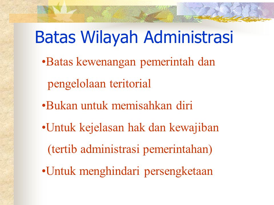 Batas Wilayah Administrasi