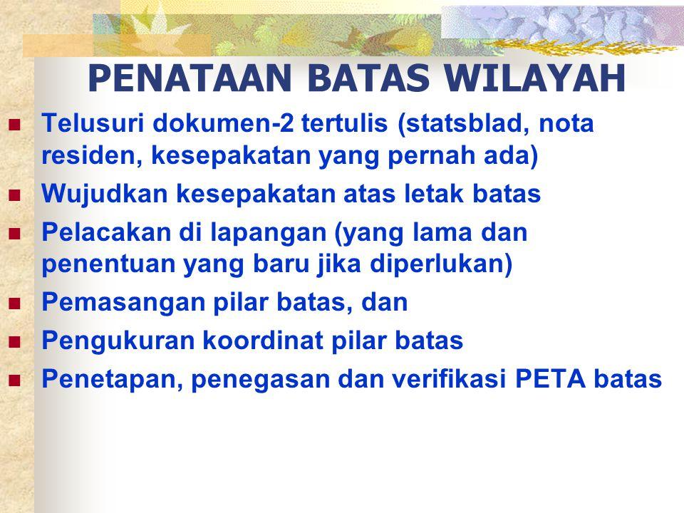 PENATAAN BATAS WILAYAH