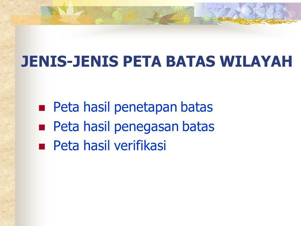 JENIS-JENIS PETA BATAS WILAYAH
