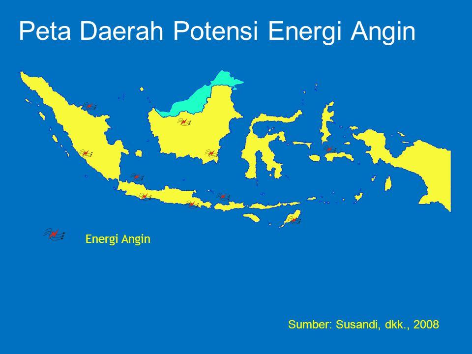 Peta Daerah Potensi Energi Angin