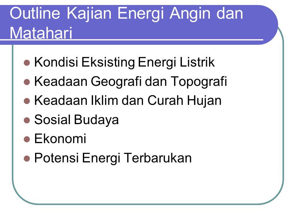Outline Kajian Energi Angin dan Matahari