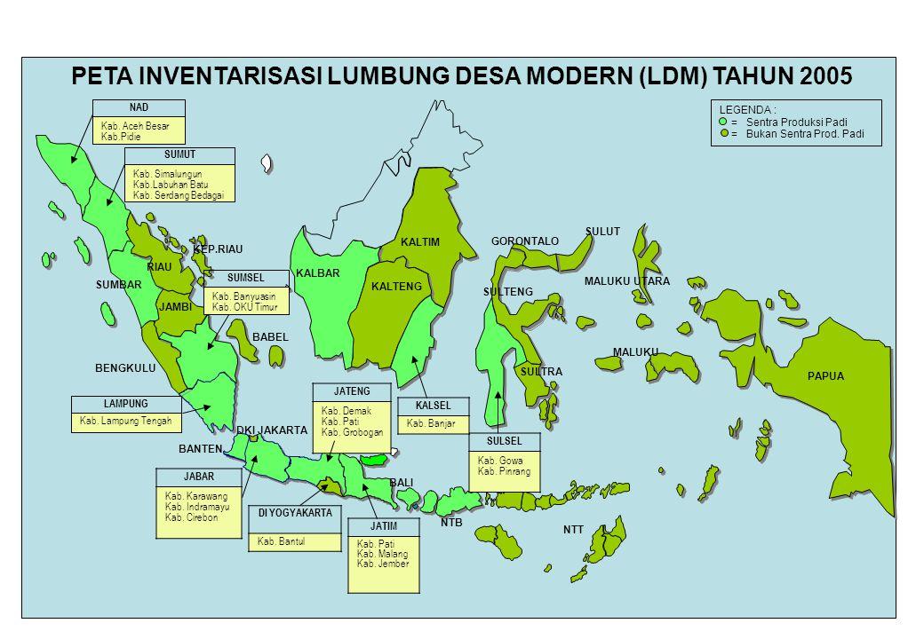 PETA INVENTARISASI LUMBUNG DESA MODERN (LDM) TAHUN 2005