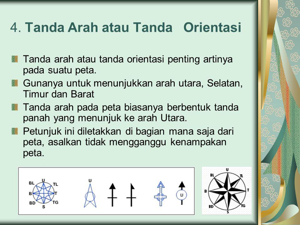 4. Tanda Arah atau Tanda Orientasi
