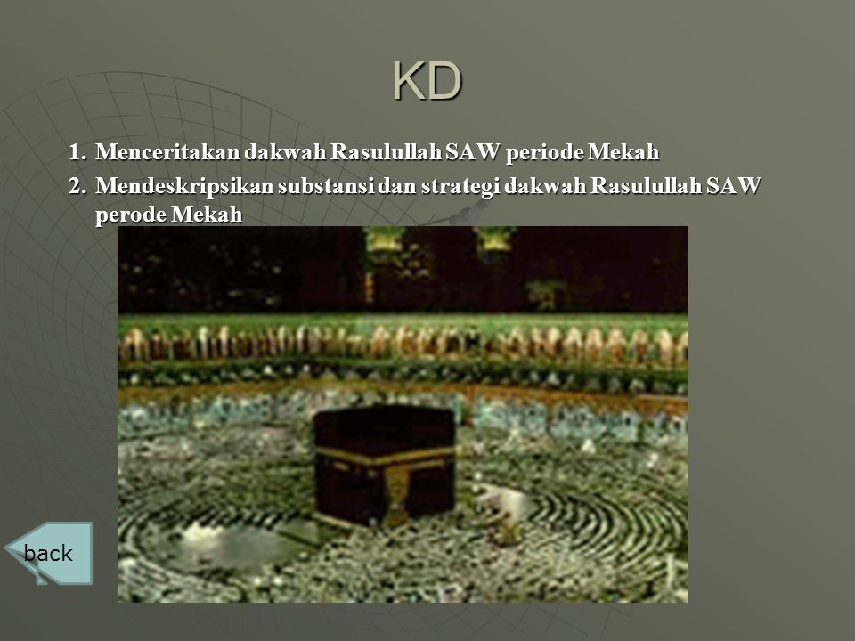 KD Menceritakan dakwah Rasulullah SAW periode Mekah