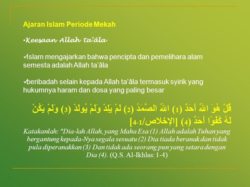 Ajaran Islam Periode Mekah