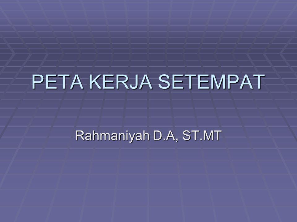 PETA KERJA SETEMPAT Rahmaniyah D.A, ST.MT