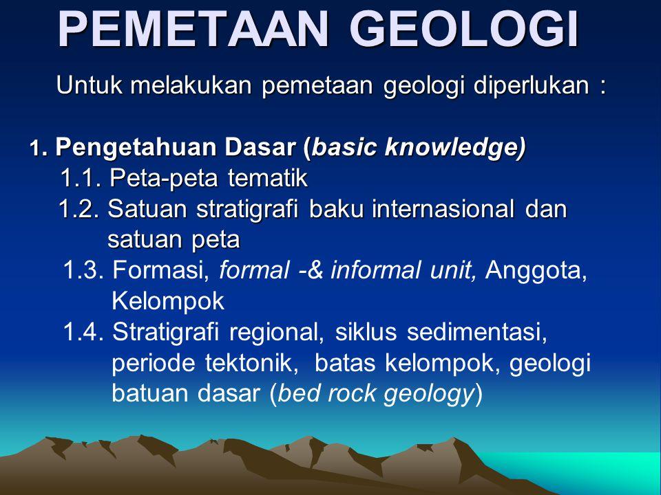 PEMETAAN GEOLOGI 1.2. Satuan stratigrafi baku internasional dan