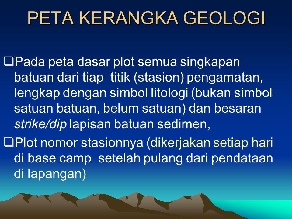 PETA KERANGKA GEOLOGI