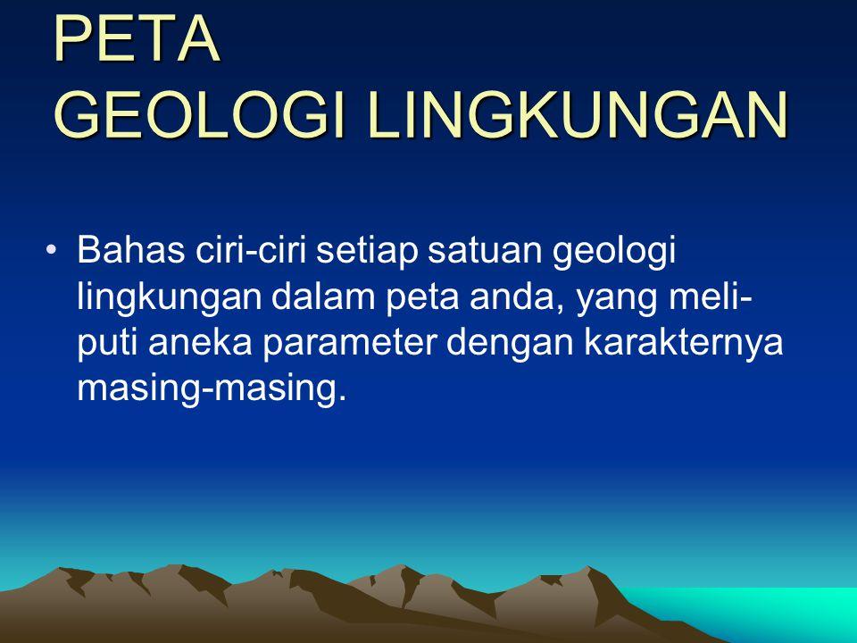 PETA GEOLOGI LINGKUNGAN