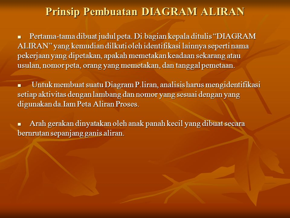 Prinsip Pembuatan DIAGRAM ALIRAN