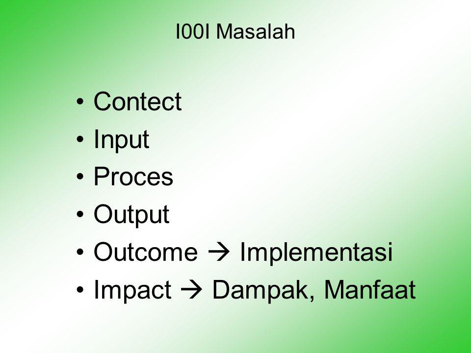 Outcome  Implementasi Impact  Dampak, Manfaat