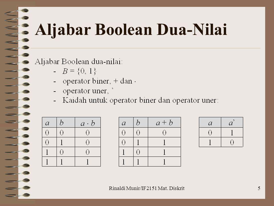 Aljabar Boolean Dua-Nilai