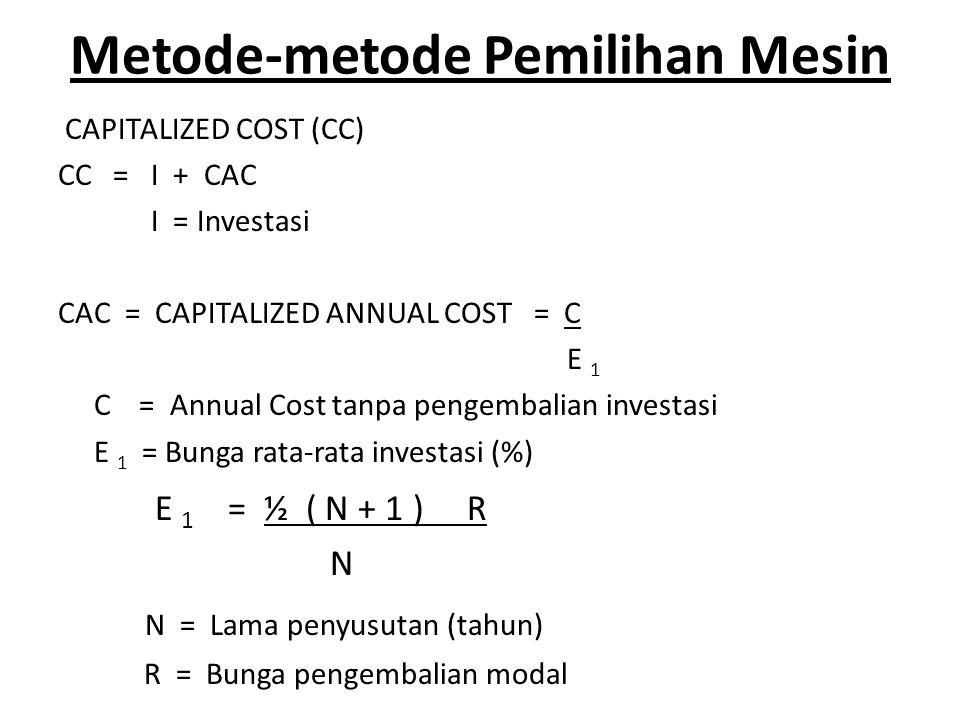 Metode-metode Pemilihan Mesin