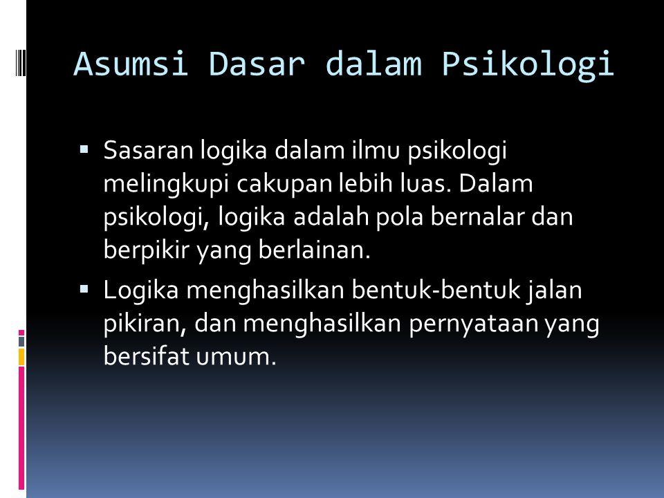 Asumsi Dasar dalam Psikologi