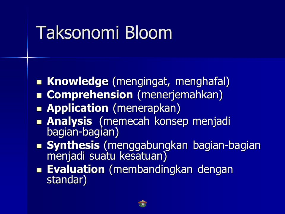 Taksonomi Bloom Knowledge (mengingat, menghafal)
