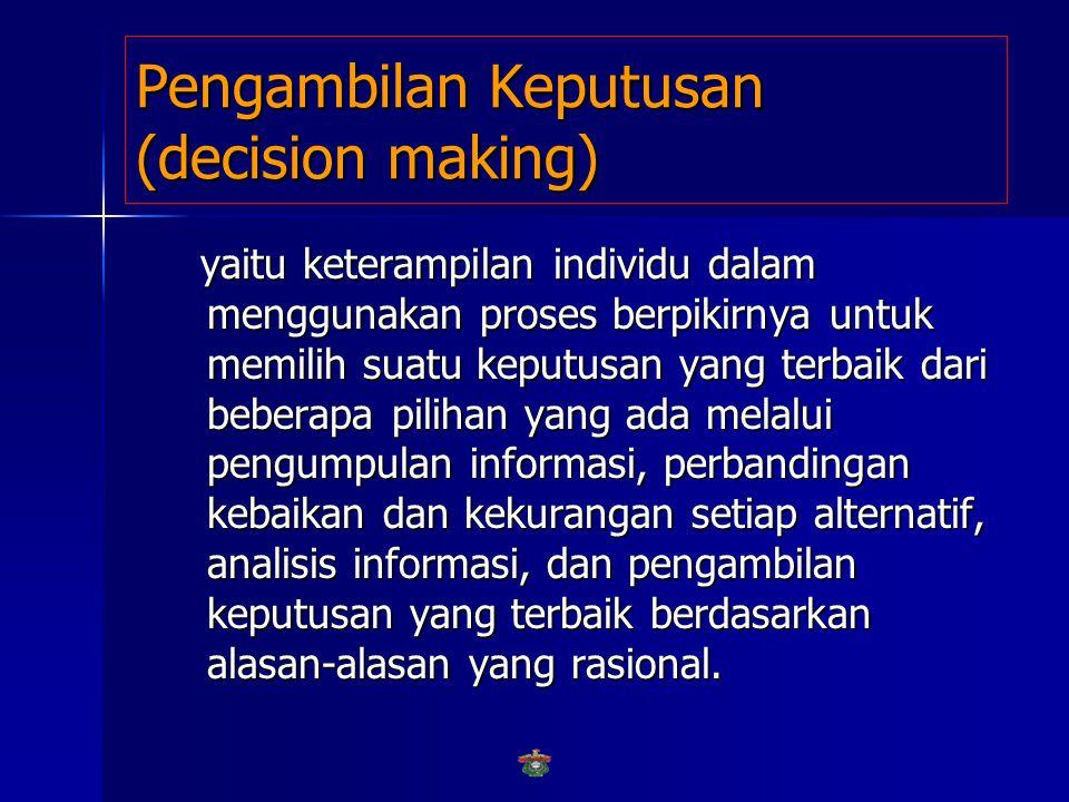 Pengambilan Keputusan (decision making)