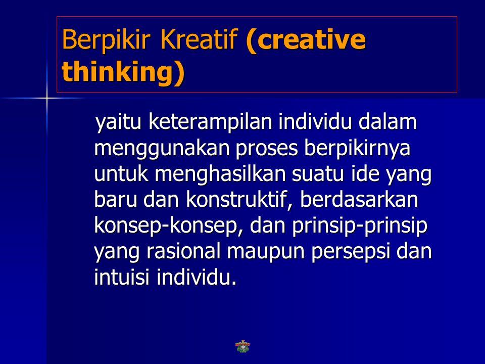 Berpikir Kreatif (creative thinking)