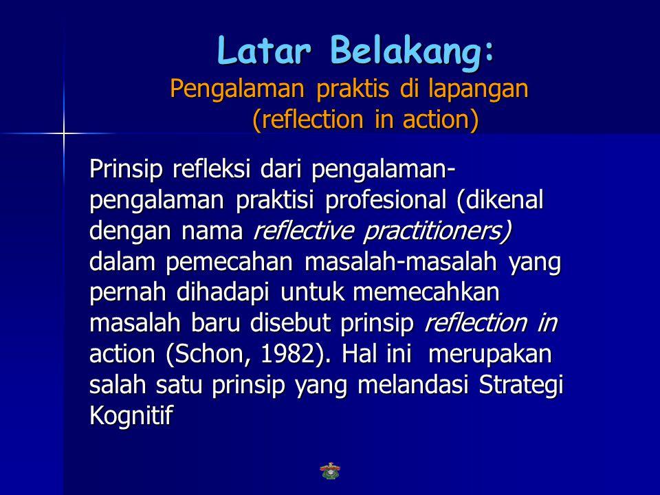 Latar Belakang: Pengalaman praktis di lapangan (reflection in action)