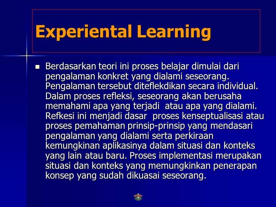 Experiental Learning