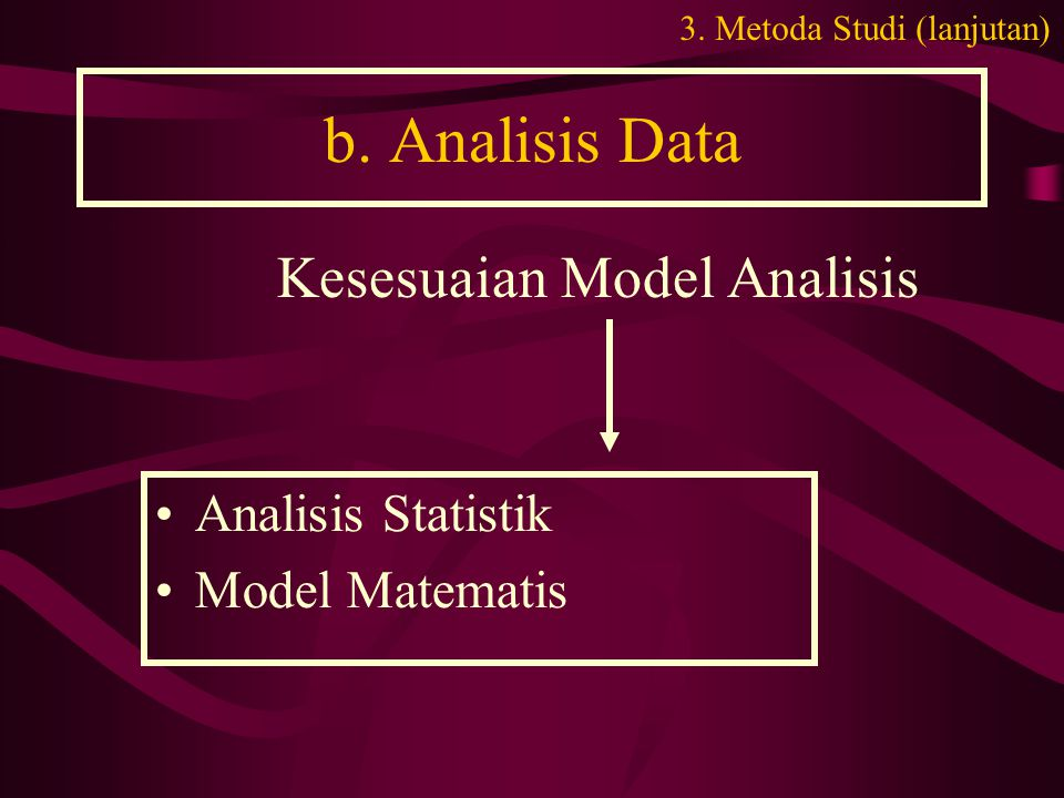 b. Analisis Data Kesesuaian Model Analisis Analisis Statistik