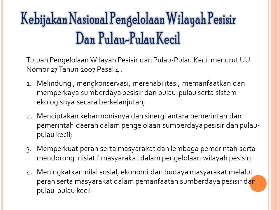 Kebijakan Nasional Pengelolaan Wilayah Pesisir