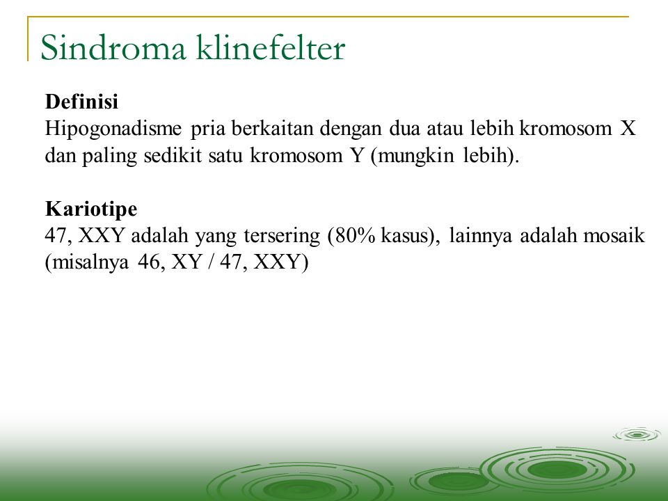 Sindroma klinefelter Definisi