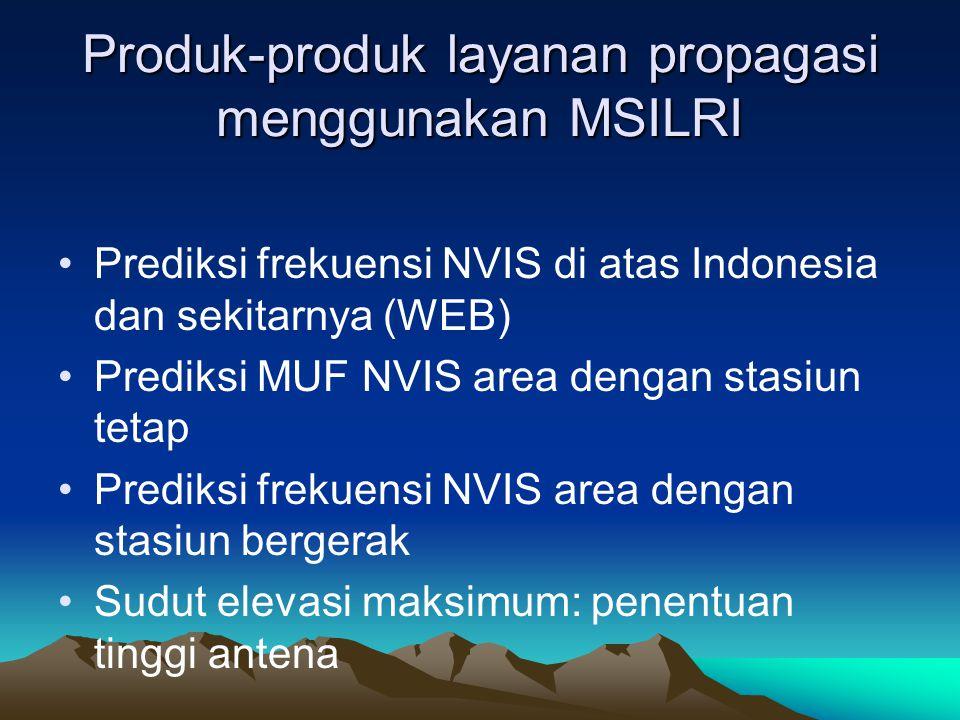 Produk-produk layanan propagasi menggunakan MSILRI