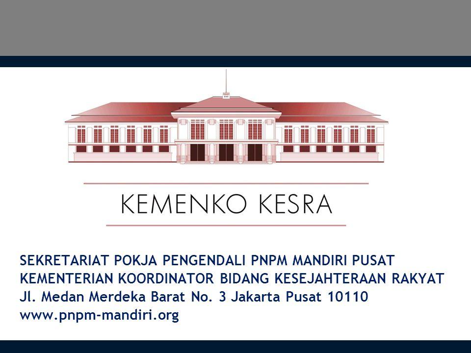 SEKRETARIAT POKJA PENGENDALI PNPM MANDIRI PUSAT KEMENTERIAN KOORDINATOR BIDANG KESEJAHTERAAN RAKYAT Jl.