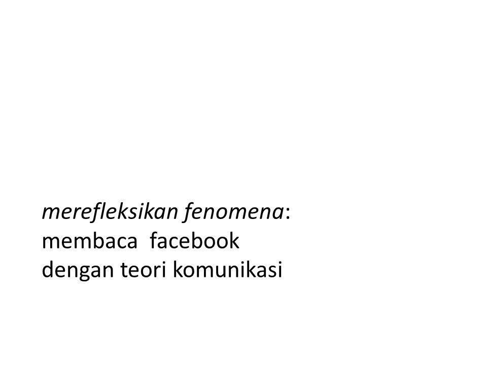 merefleksikan fenomena: membaca facebook dengan teori komunikasi