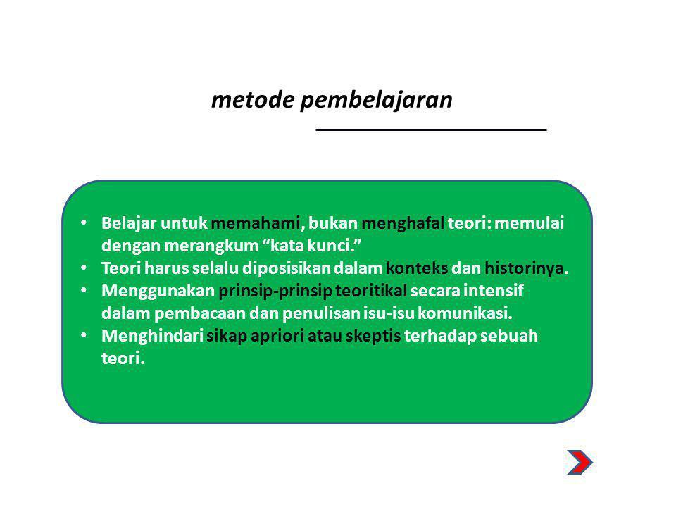 metode pembelajaran Belajar untuk memahami, bukan menghafal teori: memulai dengan merangkum kata kunci.