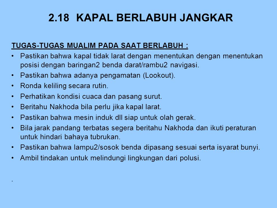 2.18 KAPAL BERLABUH JANGKAR