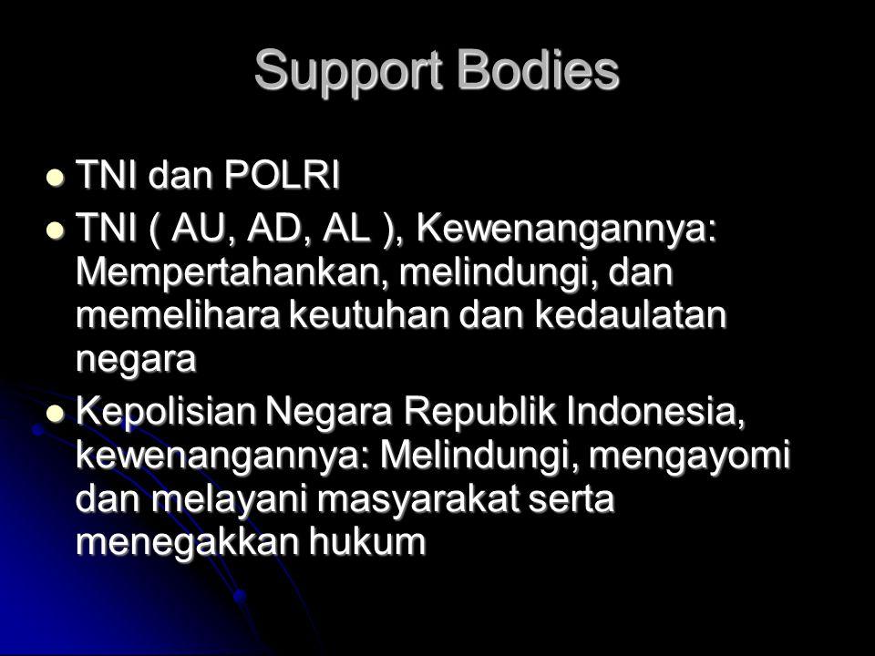 Support Bodies TNI dan POLRI