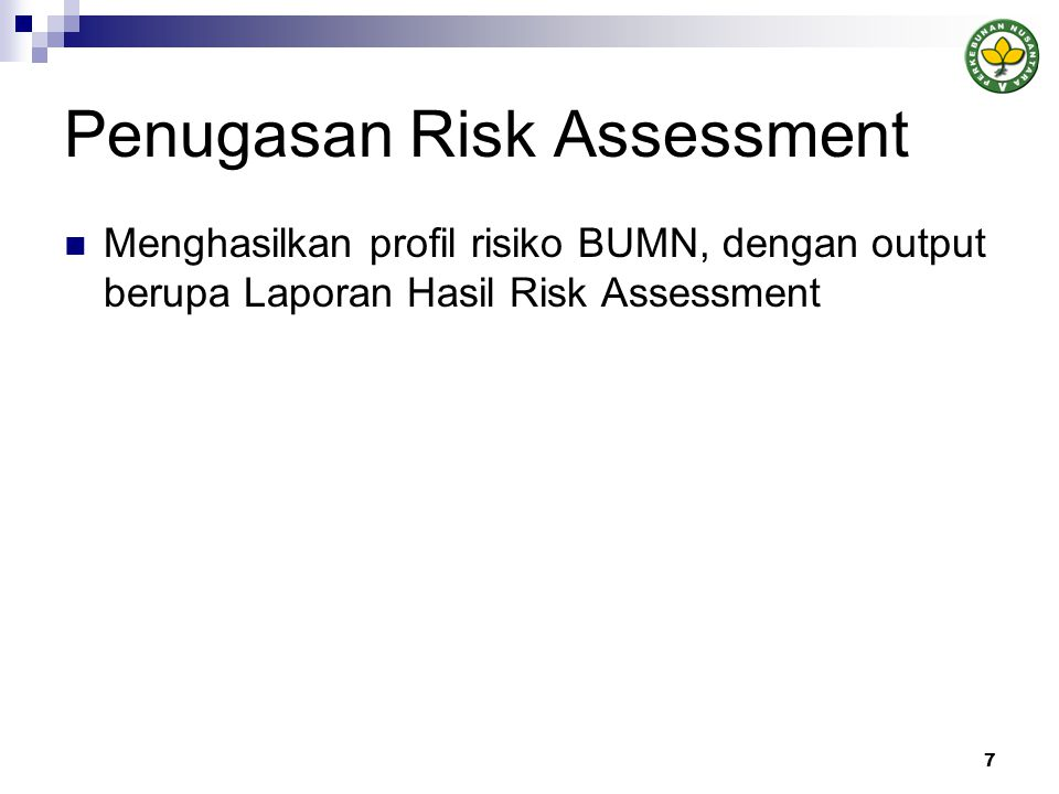 Penugasan Risk Assessment