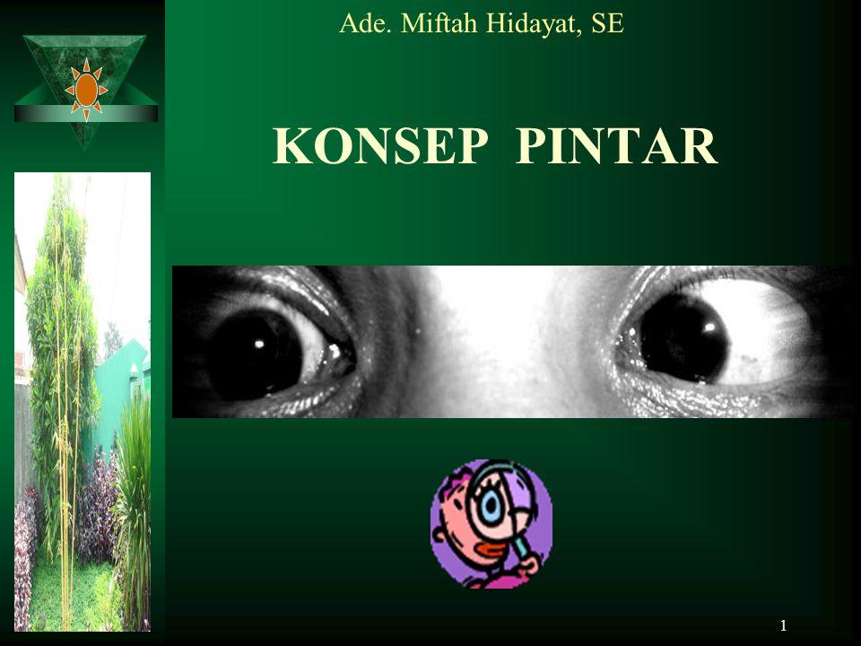 Ade. Miftah Hidayat, SE KONSEP PINTAR