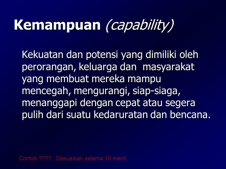 Kemampuan (capability)