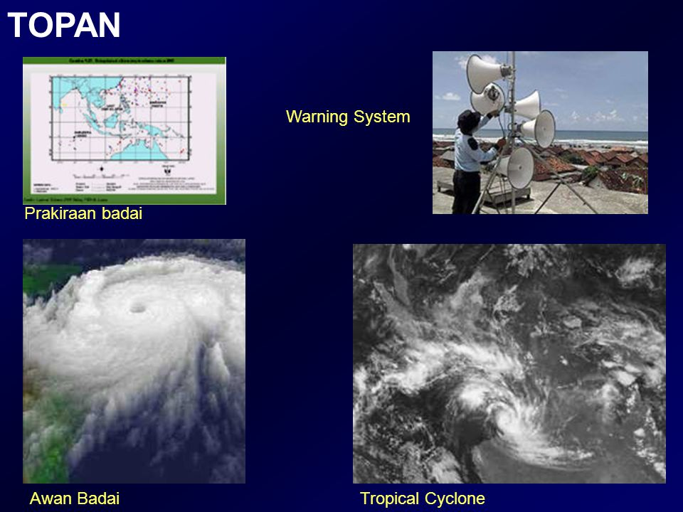 TOPAN Warning System Prakiraan badai Awan Badai Tropical Cyclone