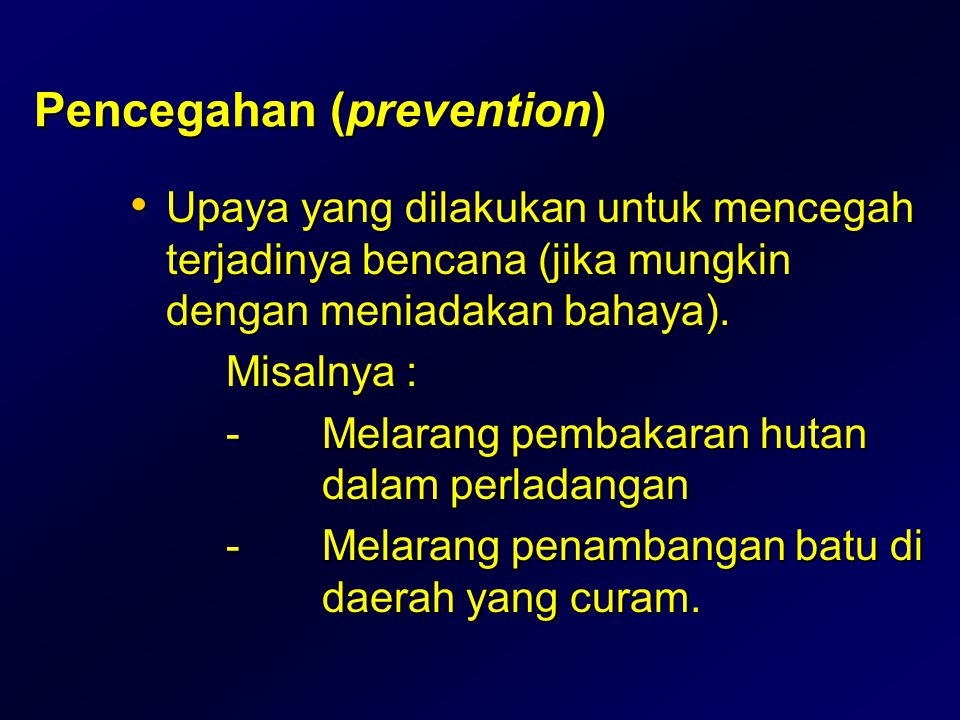 Pencegahan (prevention)