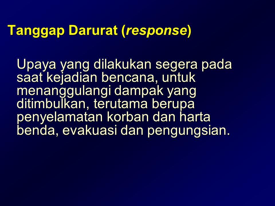 Tanggap Darurat (response)