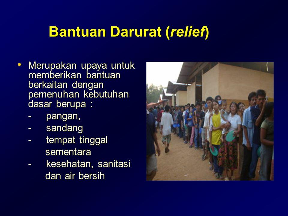 Bantuan Darurat (relief)