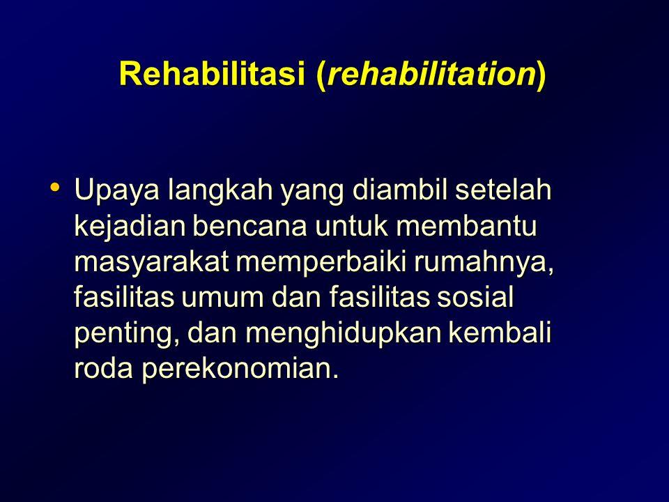 Rehabilitasi (rehabilitation)